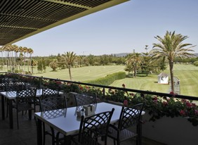 View from the Club house of The RealClub de Golf Sotogrande