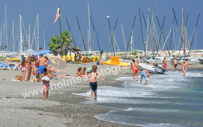 Sotogrande beach in summer