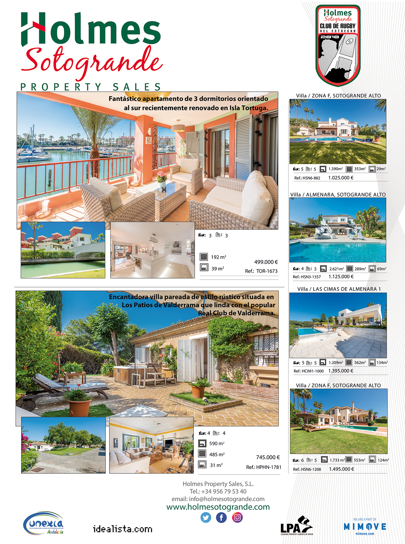 varied selection of properties for sale in Sotogrande