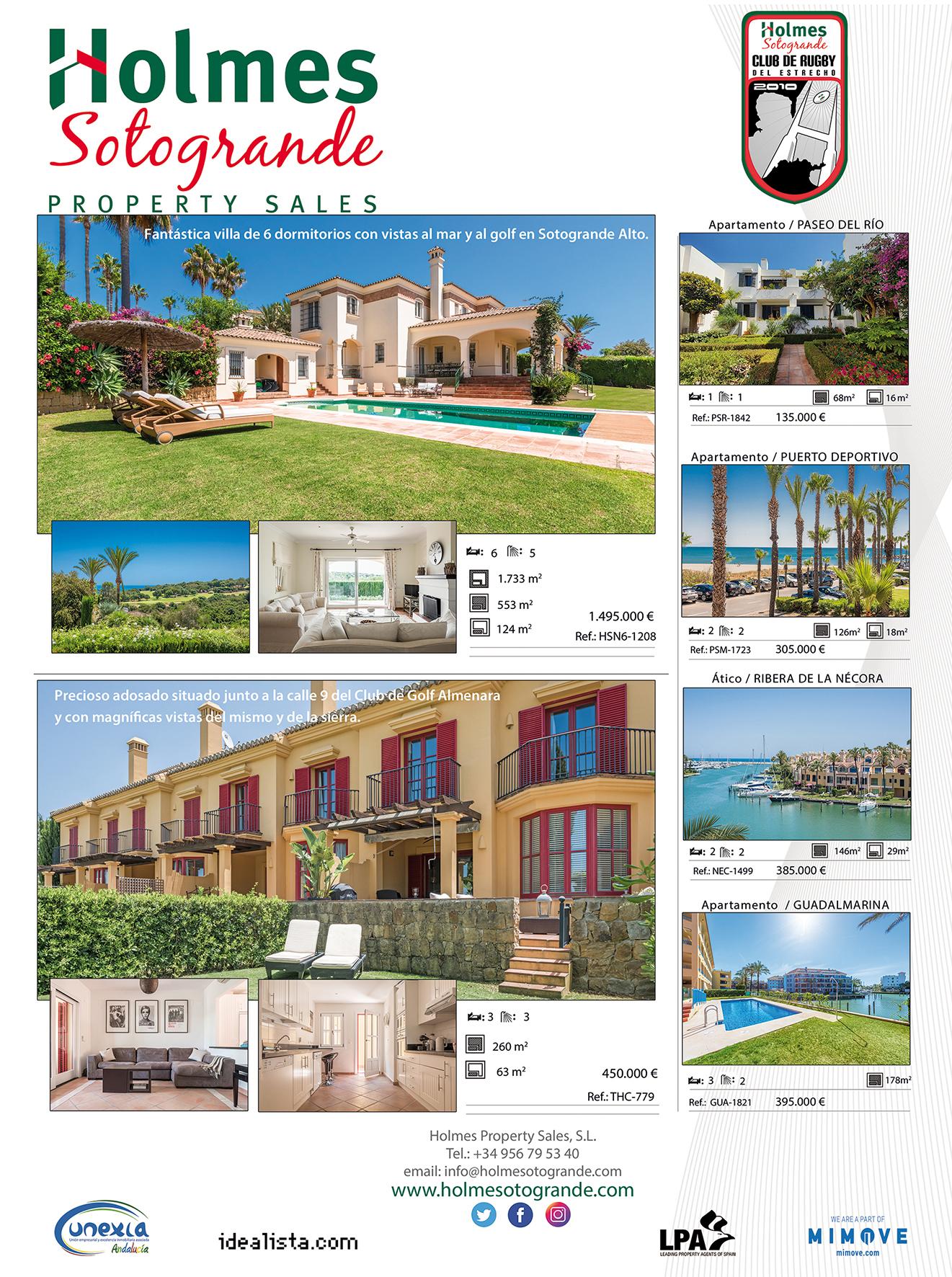 advert six wonderful properties in Sotogrande for sale